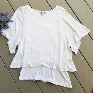 3/$20 WHBM Layered Dolman Short Sleeve Shirt Top